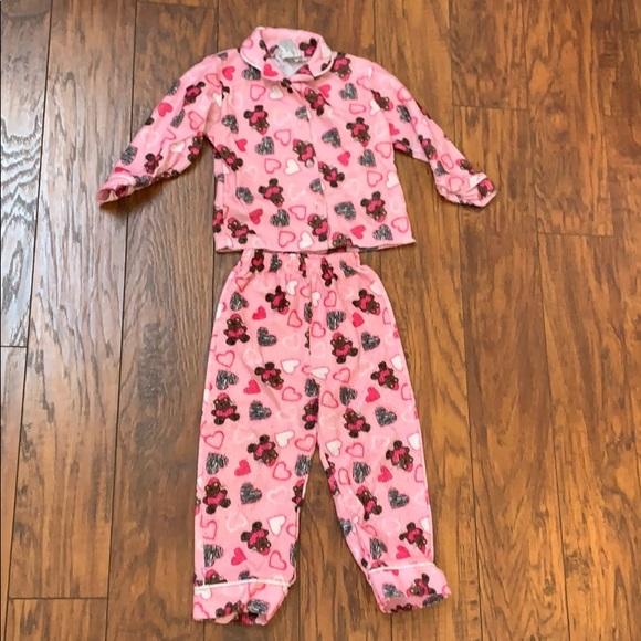 Angel Face Other - Girls Fuzzy Teddy Bear Pajama Set